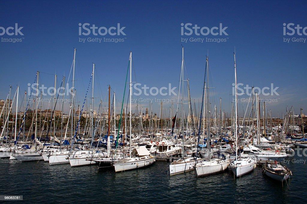 Port de Barcelona royalty-free stock photo