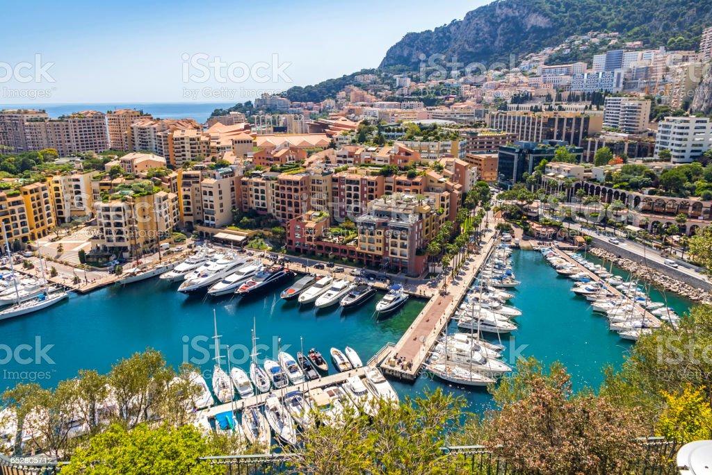Port de Fontvieille, Monaco stock photo