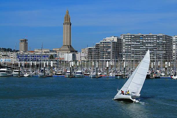 Port de plaisance du Havre, France Port de plaisance du Havre manche stock pictures, royalty-free photos & images