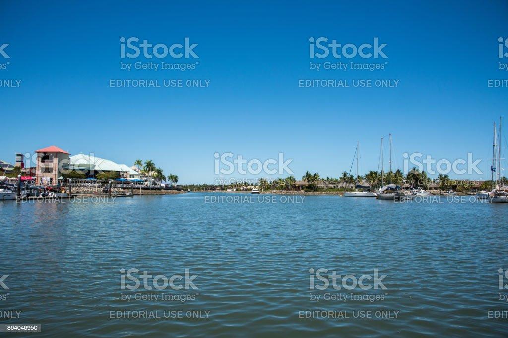 Port Denarau Marina and Harbour stock photo
