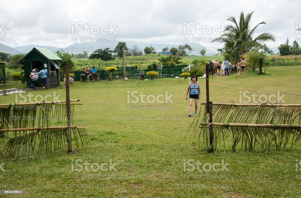 Port Denarau: Remote Village stock photo
