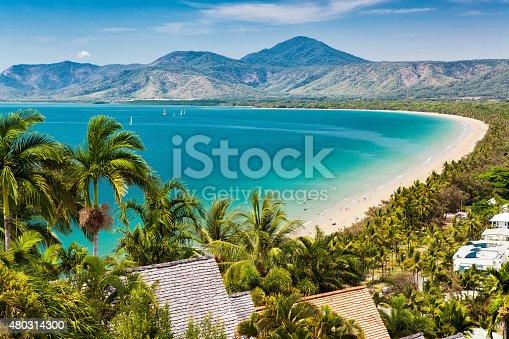 istock Port Douglas beach and ocean on sunny day, Queensland 480314300