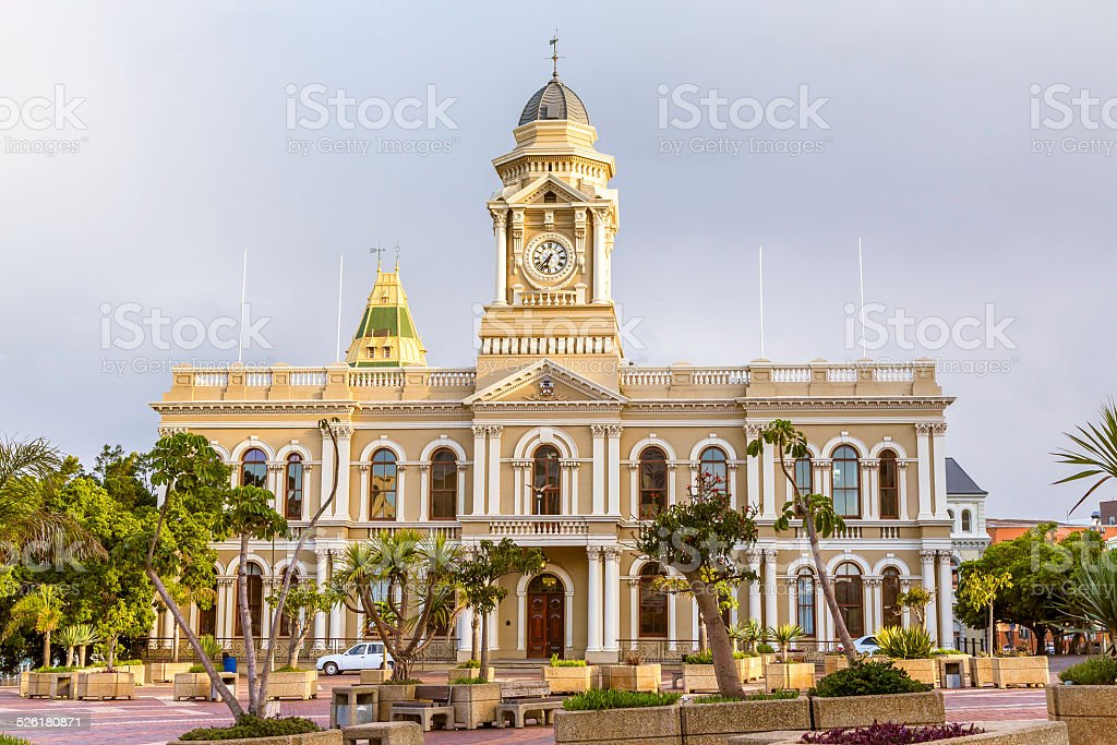 Port Elizabeth City Hall in the Eastern Cape stock photo