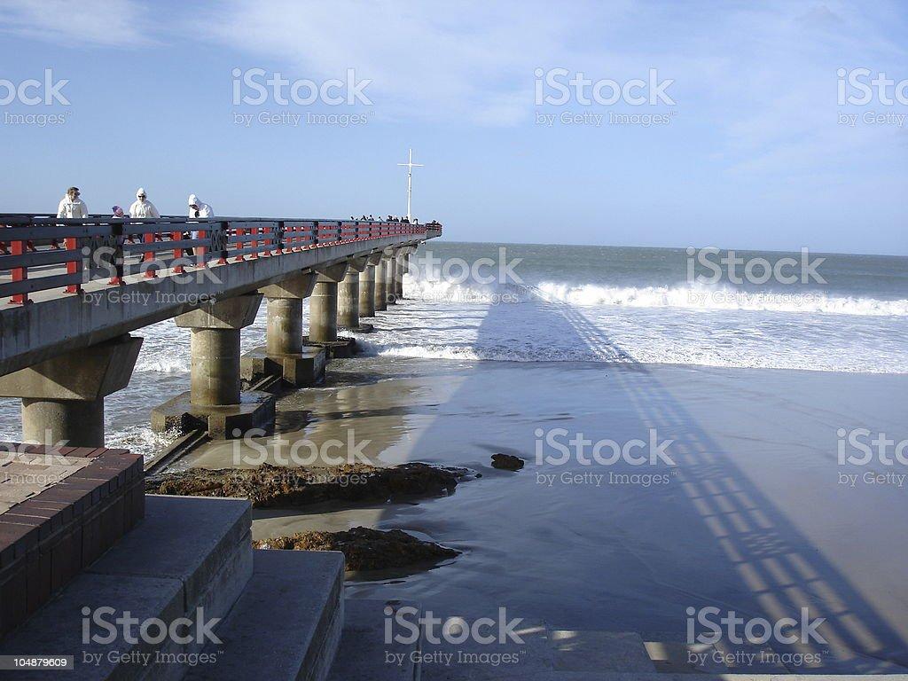 Port Elizabeth Shark Rock Pier royalty-free stock photo