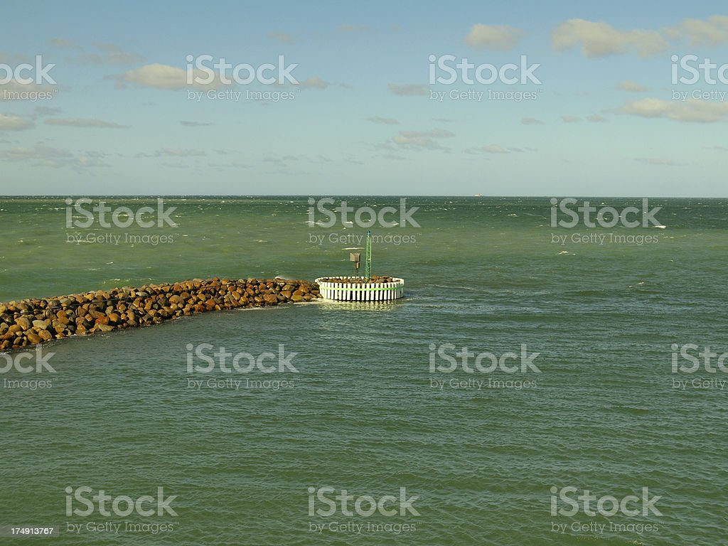 port entrance royalty-free stock photo
