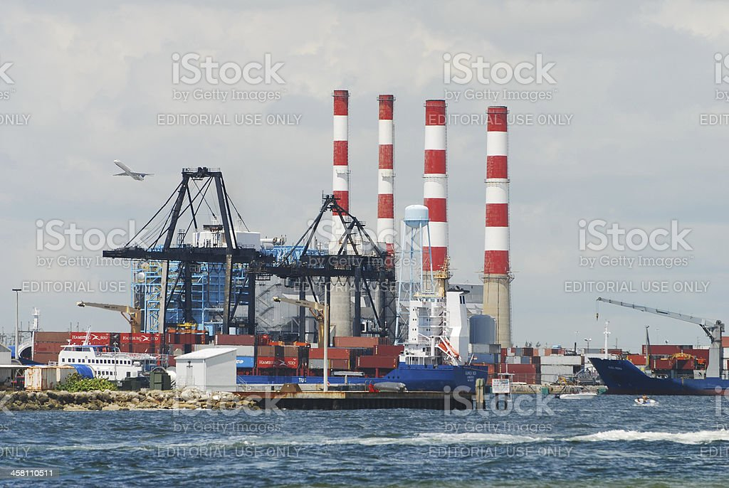 Port Everglades activity stock photo