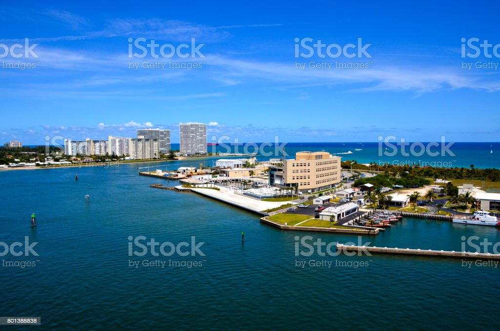 Port Everglades and Ft. Lauderdale stock photo