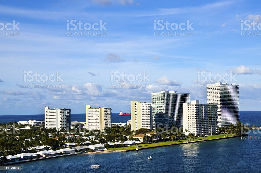 Port Everglades at Fort Lauderdale stock photo