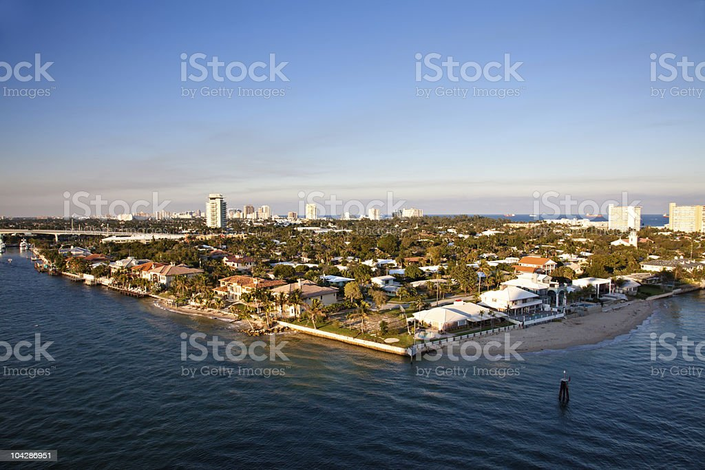 Port Everglades, Fort Lauderdale, Florida stock photo