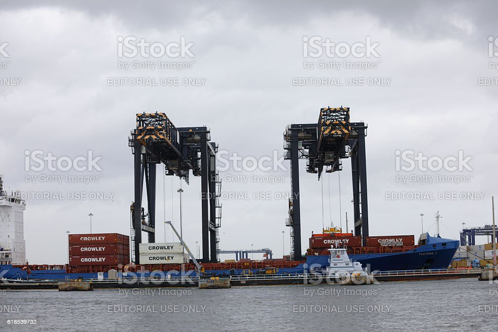 Port Everglades Fort Lauderdale stock photo