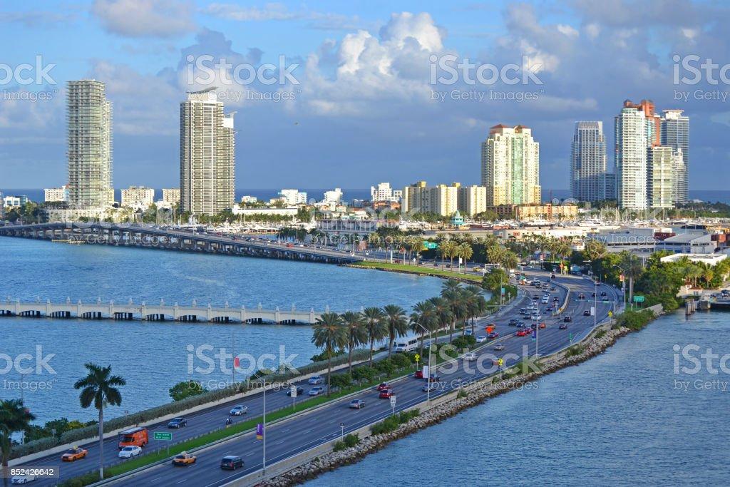 Port Everglades in Fort Lauderdale Florida stock photo