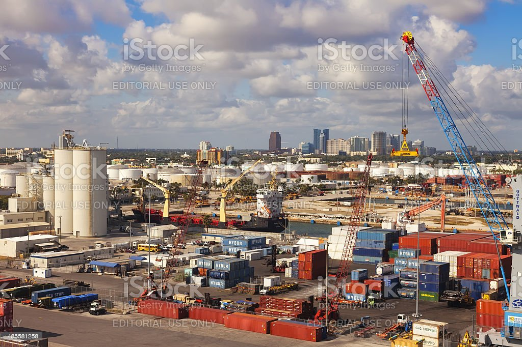 Port Everglades in Ft. Lauderale, Florida stock photo