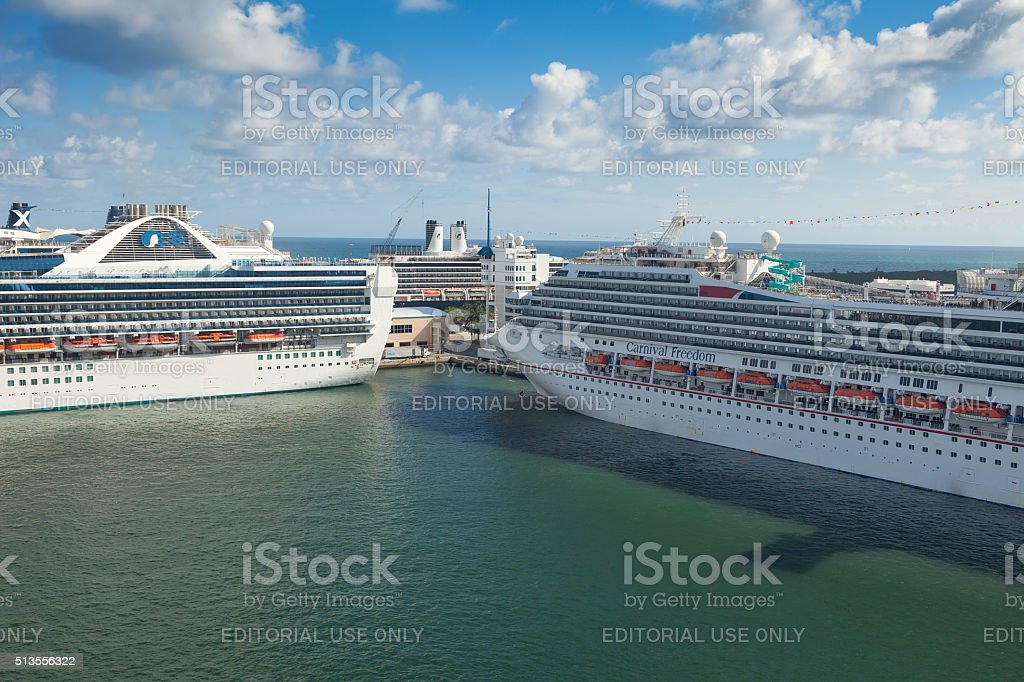 Port Everglades in Ft. Lauderdale stock photo