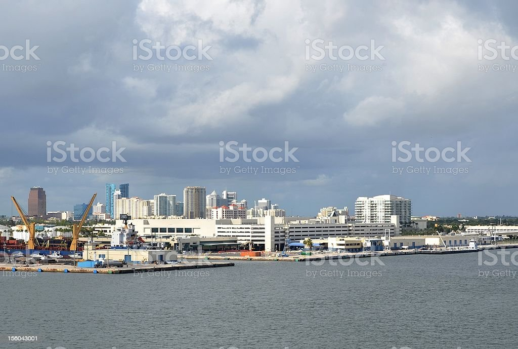 Port Everglades stock photo