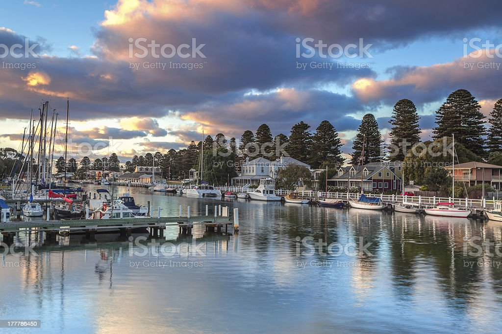 Port Fairy stock photo