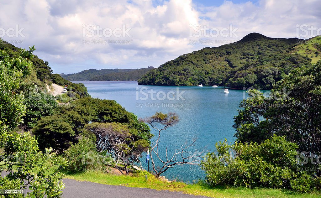 Port Fitzroy Harbour, Great Barrier Island New Zealand stock photo
