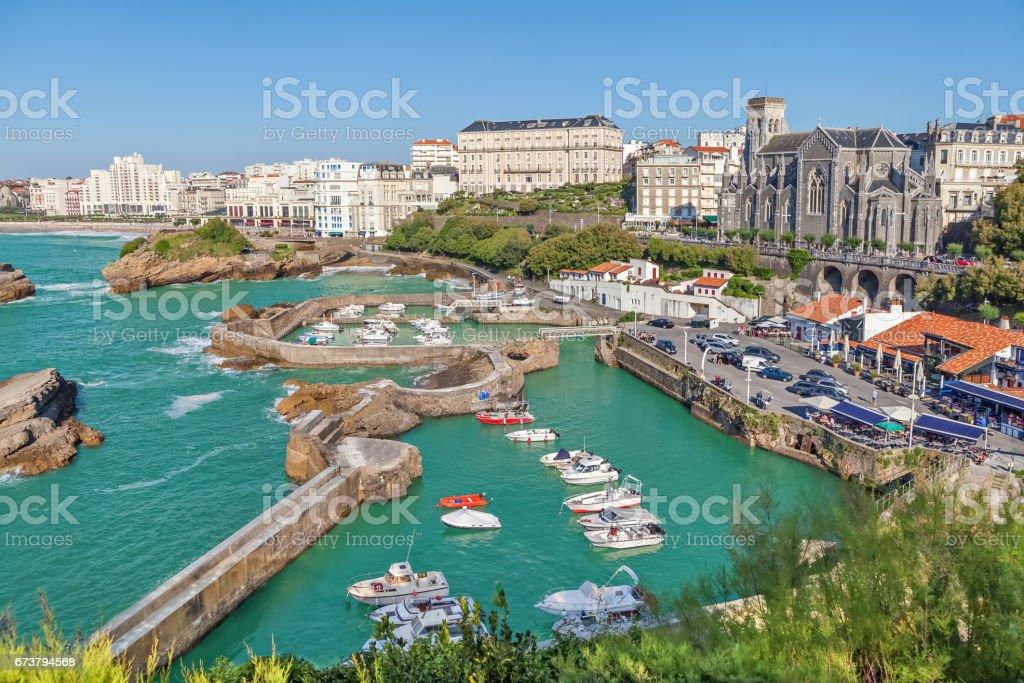Port pour petits bateaux à Biarritz - Photo