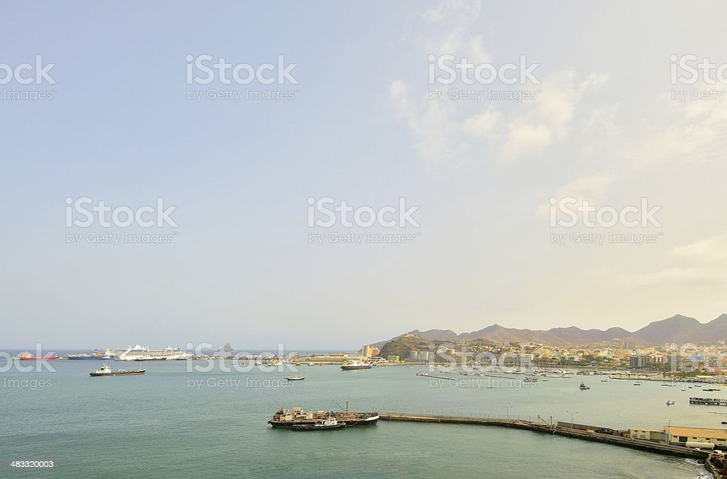 Porto Grande Harbor stock photo