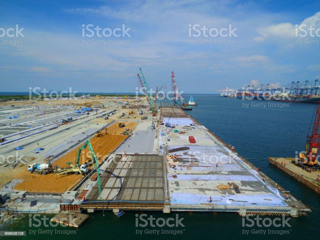 Hafen Hafen und Liegeplätze im Bau in Marine. - Lizenzfrei Anlegestelle Stock-Foto