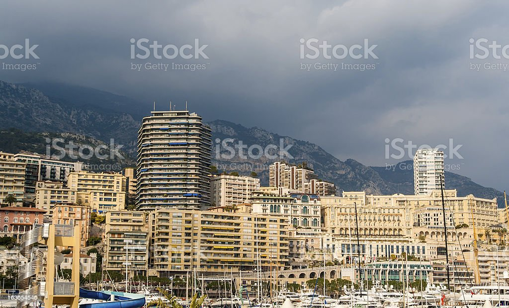 Port Hercules, La Condamine, Monte Carlo in Monaco royalty-free stock photo