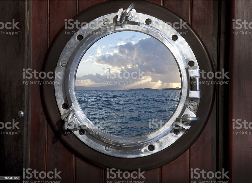port hole stock photo