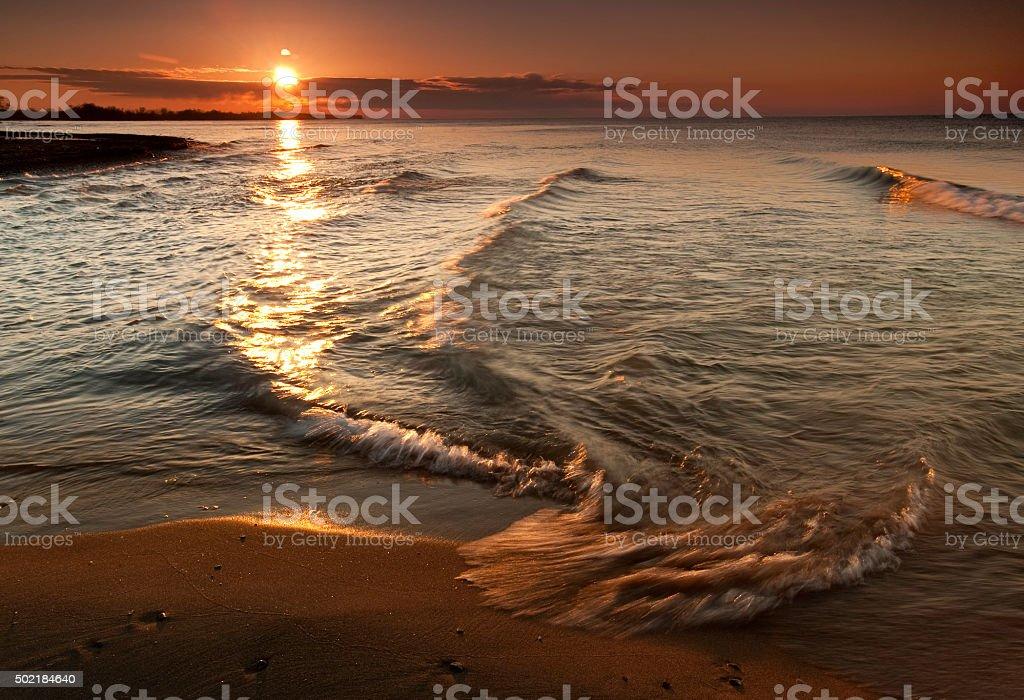 Port Hope Sunrise stock photo