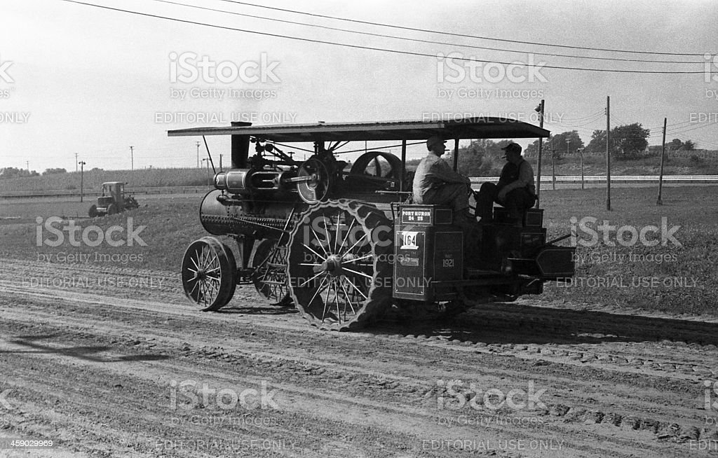Port Huron traction engine royalty-free stock photo