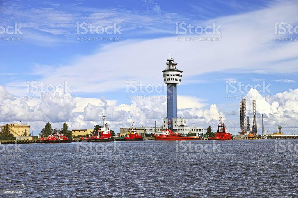 Port in Gdansk stock photo