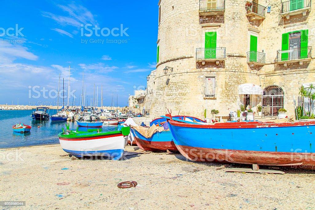 Port in Giovinazzo near Bari, Apulia, Italy stock photo