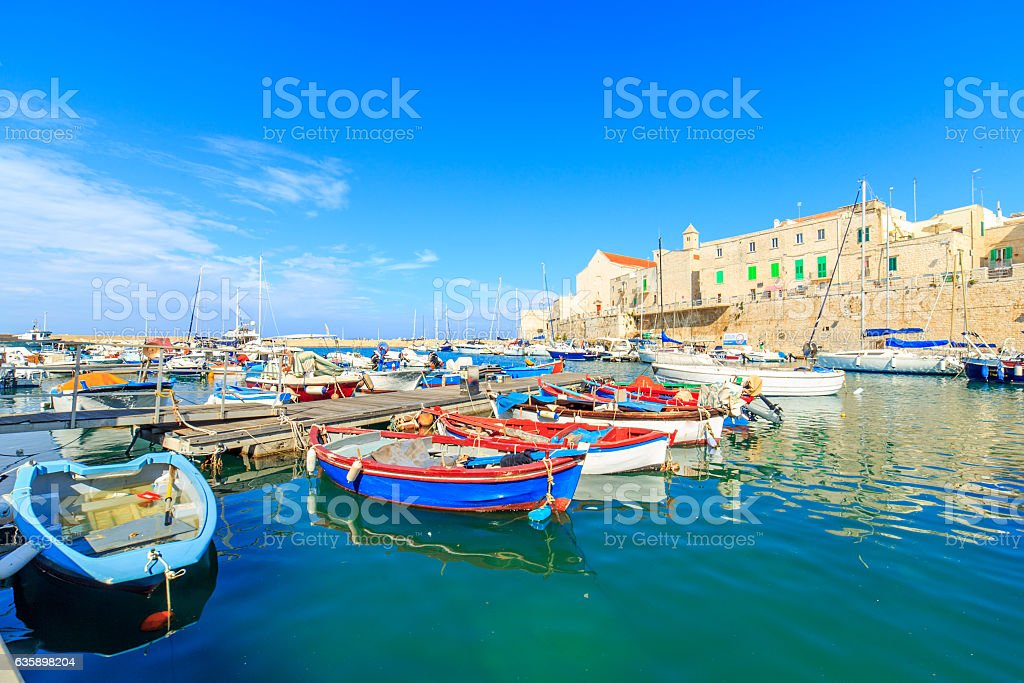Port in Giovinazzo near Bari, Apulia, Italy stock photo