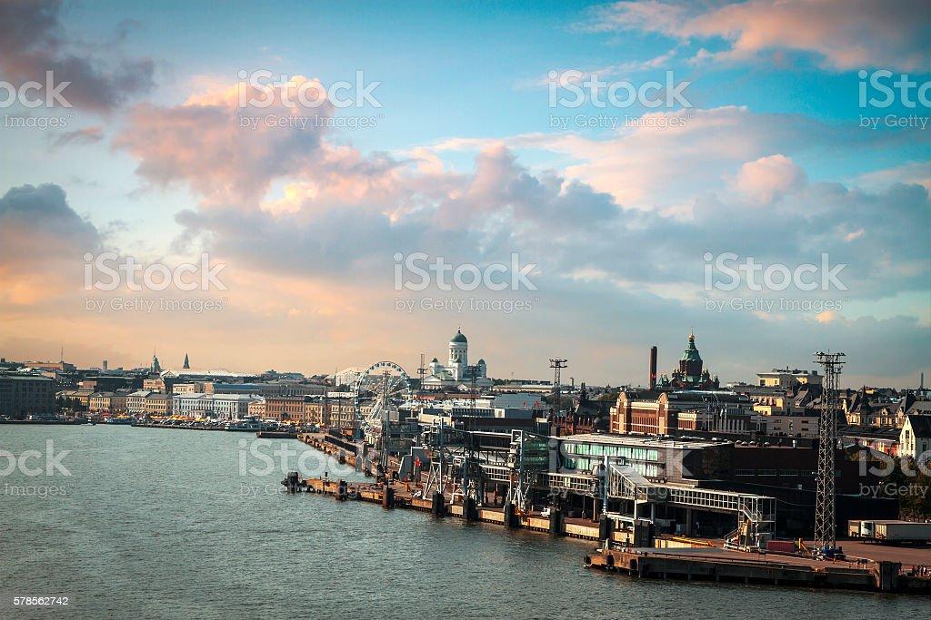 Port in Helsinki stock photo