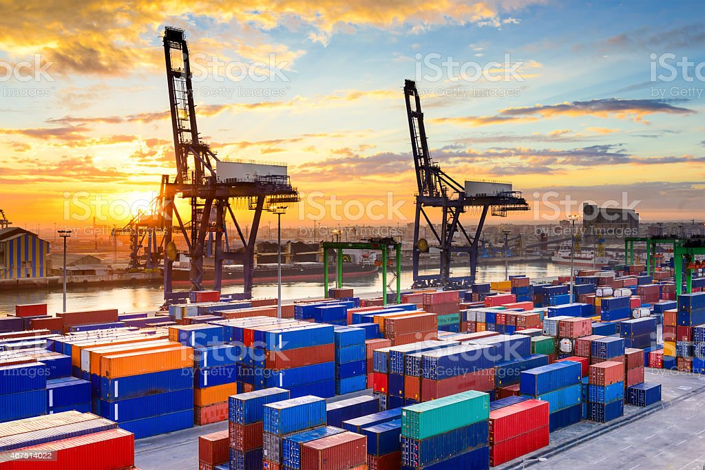 Port in Morocco stock photo