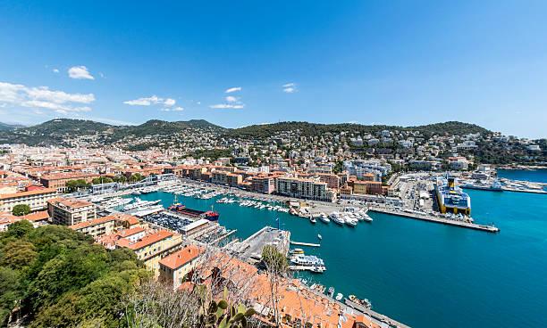 Port in Nice, France stock photo