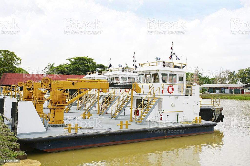 port in Panama Canal royalty-free stock photo