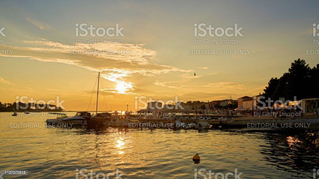 Hafen in Porec an der Adria – Foto