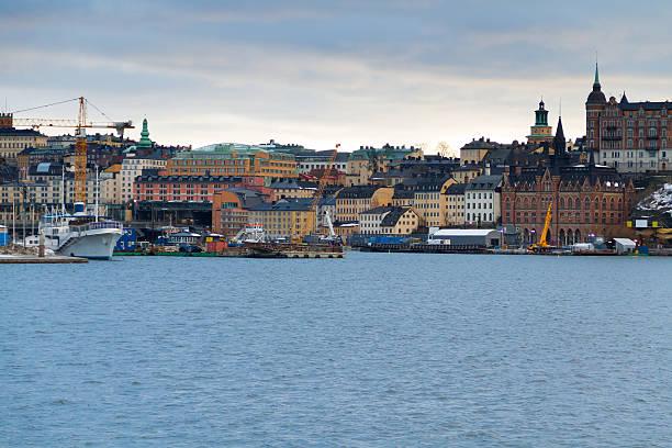 port in stockholm - ferry lake sweden bildbanksfoton och bilder