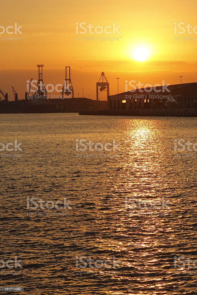 Port Infrastructure royalty-free stock photo