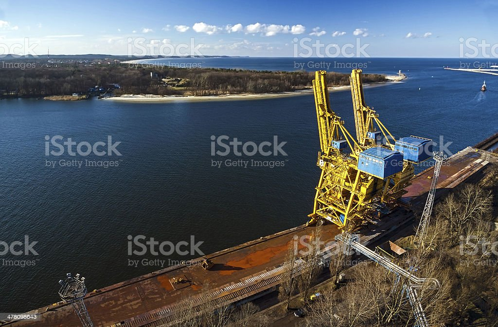 Port infrastructure. stock photo