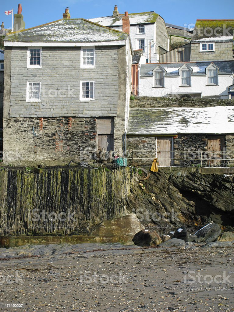 Port Isaac, Cornwall. stock photo