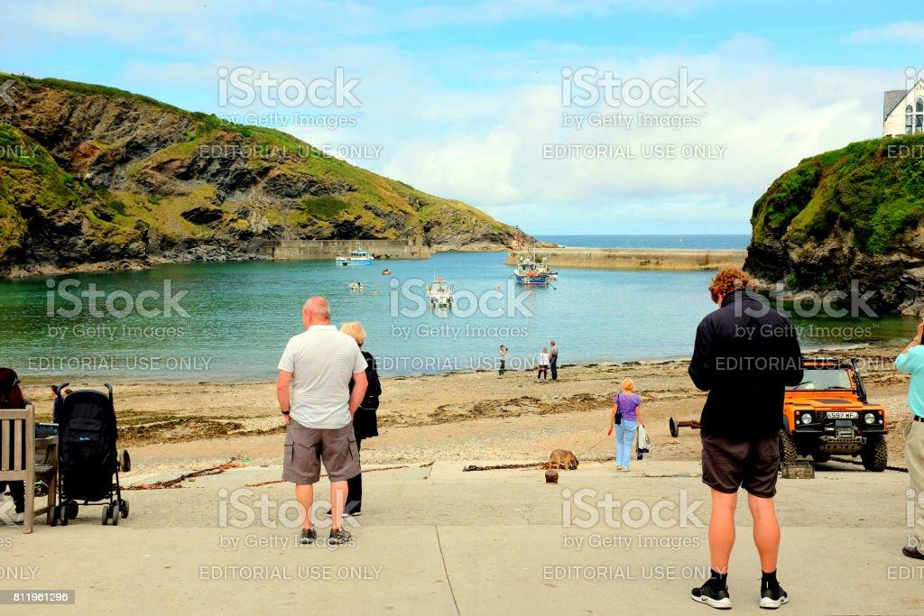 Port Isaac, Cornwall. stock photo