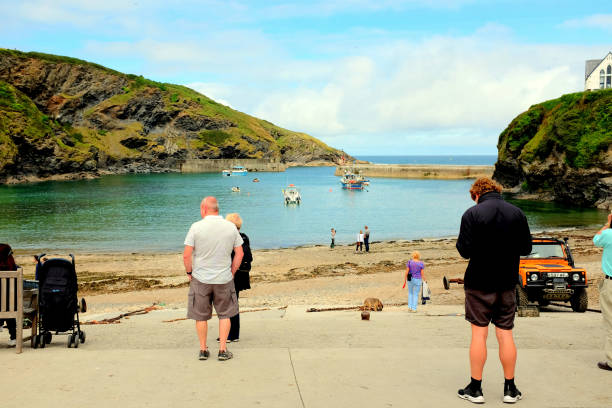port isaac, cornwall. - england stock photos and pictures