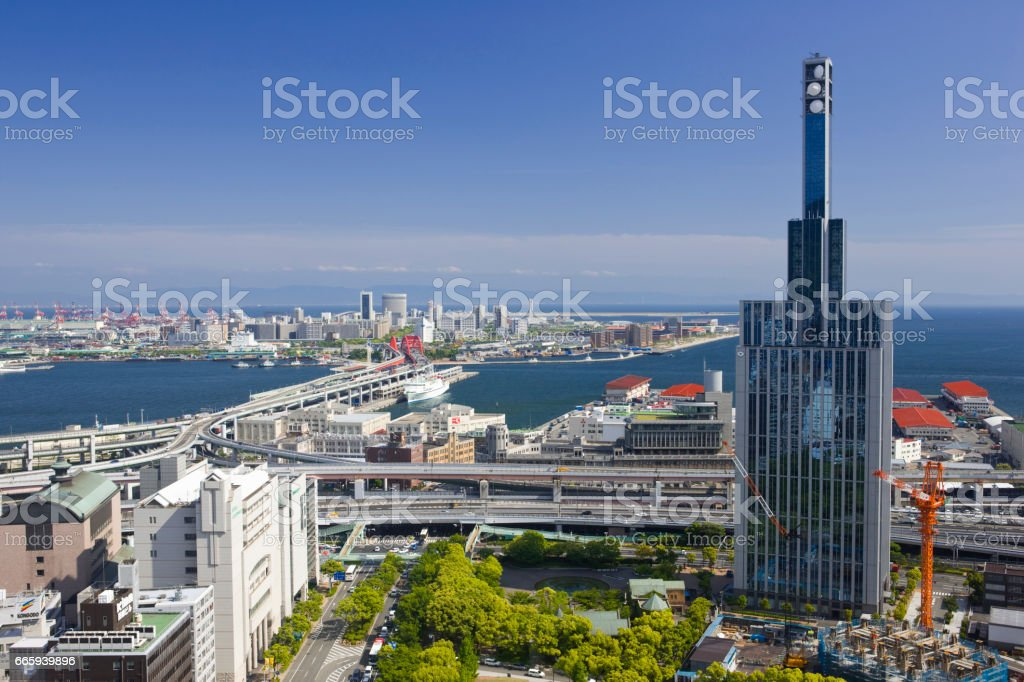 Port island and building foto stock royalty-free