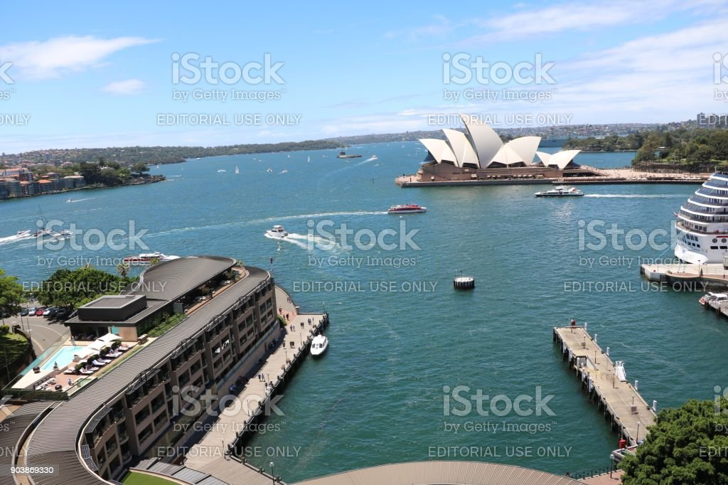 Port Jackson in Sydney, New South Wales Australia stock photo