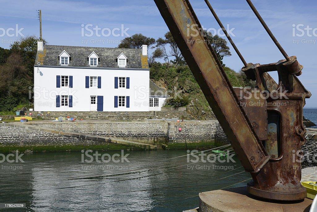 Port Lay, Ile de Groix, Bretagne, France stock photo