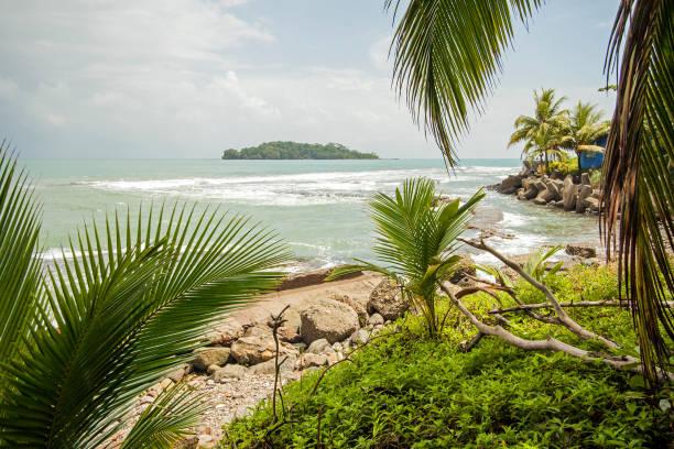 Port Limon seaport in Costa Rica stock photo