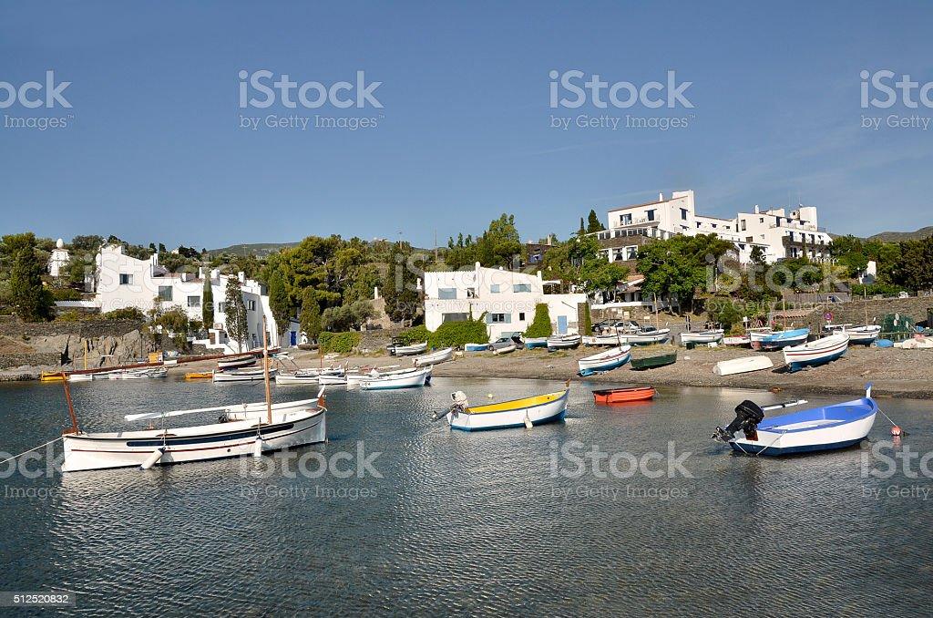 Port Lligat in Spain stock photo