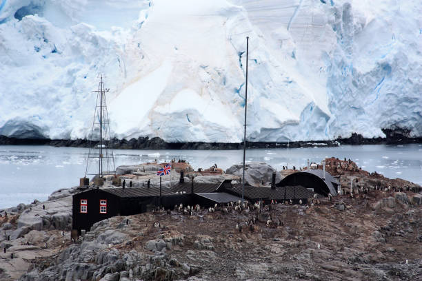 Port Lockroy- Antarctica stock photo