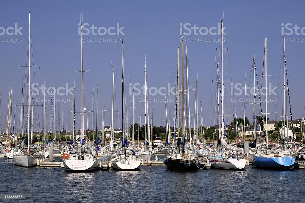 Port Locmiquélic of Brittany in France royalty-free stock photo
