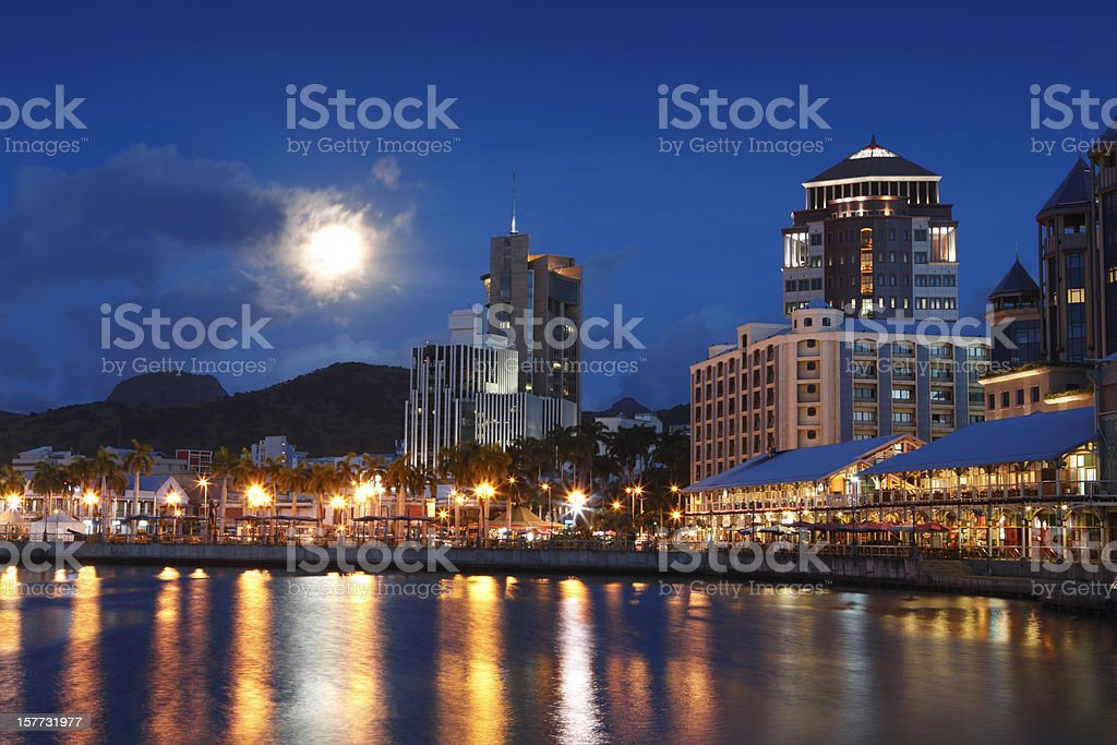Port Louis by night royalty-free stock photo