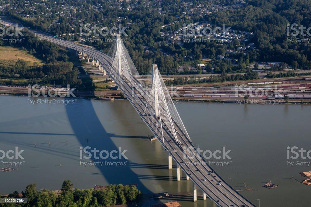 Port Mann Bridge stock photo